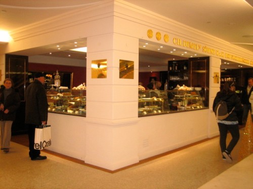 Cafe Demel on the new lower level is an outpost of the famous Viennese cafe and looks lovely!