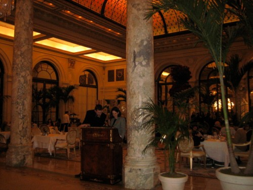 The Palm Court looks the same, although it received terrible reviews and is supposed to ridiculously overpriced (always was though).
